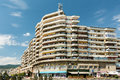 Communist building apartments alba iulia romania august downtown of alba iulia city Royalty Free Stock Image