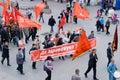 Communist demonstration Royalty Free Stock Photography