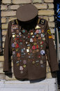 Communist medals military jacket decorated with for collector Royalty Free Stock Photo