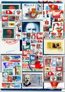 Communists collage great figures on Royalty Free Stock Photo