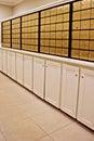 Community mail station Royalty Free Stock Photo