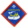 Community - Scout activity badge Stock Photos
