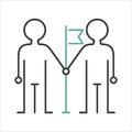 Community team friendship teamwork social group concept line vector. Royalty Free Stock Photo