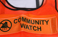 Community Watch Vest Stock Image