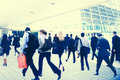 Commuter buiness people corporate cityscape walking concept travel Stock Photo