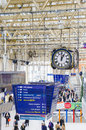 Commuters inside waterloo railway station london in uk Royalty Free Stock Photos