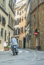 Commuters on Narrow Streets Royalty Free Stock Photos