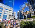 Commuters new york city aug columbus circle is a major landmark and attraction in new york on august in manhattan new york city Royalty Free Stock Photos