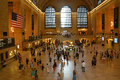 Commuters and tourists in the grand central station august new york it is largest train world by number Royalty Free Stock Photography