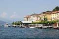Como lake bellagio village along the shores of the italy Royalty Free Stock Images