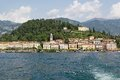 Como lake bellagio village along the shores of the italy Stock Photos