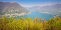 Como lake italy landscape from montepiatto lombardy Stock Photos