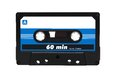 Compact audio cassette tape Royalty Free Stock Photo