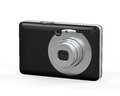 Compact digital camera on white background d render Royalty Free Stock Photography