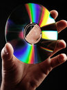 Compact disc hand. Stock Photography