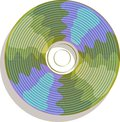 Compact disc icon for data storage and player Royalty Free Stock Photo