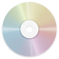 Compact Disc Illustration Rainbow Gradient Reflection Royalty Free Stock Photo