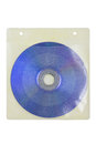 Compact disc in plastic envelope isolated on white Royalty Free Stock Photography