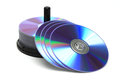 Compact discs isolated Royalty Free Stock Images
