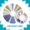 Compact discs two vector isolated dvd cd cd rw dvd rw Stock Photos