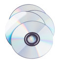 Compact discs on a white background Royalty Free Stock Photography