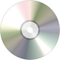 Compact disk close up isolated on white