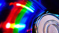 Compact disk colors Royalty Free Stock Images
