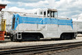 Compact engine, Portola Railroad Museum Royalty Free Stock Photo
