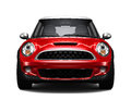 Compact red car - front view Royalty Free Stock Photo