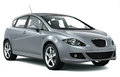 Compact silver car Royalty Free Stock Photo