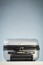 Compact Suitcase Locked with a Padlock Royalty Free Stock Photo