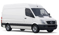 Compact white cargo van Royalty Free Stock Photo
