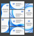 Company business cards high quality collection Stock Photos