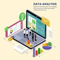 Company Data Analysis isometric Illustration