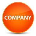 Company elegant orange round button