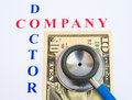 Company finances; a health check. Royalty Free Stock Image