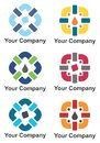 Company logo design in multiple colors Royalty Free Stock Photo