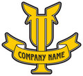 Company logo with letter T Stock Photos