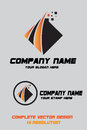 Company logo technical type orange gradient and black stamp includes design by illustartor cs in Stock Image