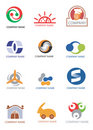 Company_logos_design_elements Royalty Free Stock Images