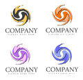 Company logos a set of spiraling with placeholder for name and slogan Stock Photos