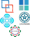 Company logos you can use this colorful and decorative for your or product Royalty Free Stock Image