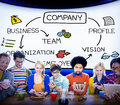 Company organization employees group corporate concept Royalty Free Stock Photo