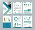 Company profile ,annual report , brochure , flyer, page layout template Royalty Free Stock Photo