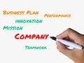 Company on whiteboard indicates association of indicating management and employees teamwork Royalty Free Stock Photo