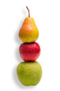 Compare apples and pears conceptual shot you cannot with Royalty Free Stock Photo