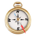 Compass with the arrow falls out. 3d. Royalty Free Stock Photo