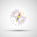 Compass  background abstract illustration Royalty Free Stock Photo