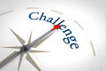 Compass challenge an image of a nice blue with the word Royalty Free Stock Image