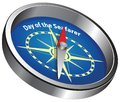 Compass Day of the Seafarer Royalty Free Stock Photo